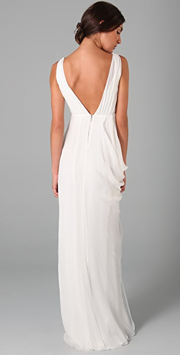 alice + olivia Faux Wrap Gown