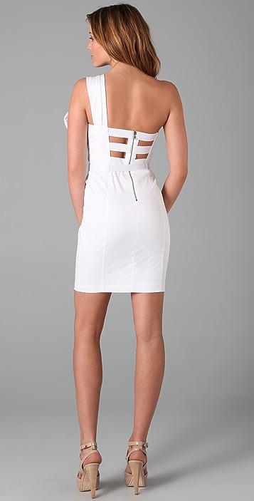 alice + olivia Lillian Bow Front Dress
