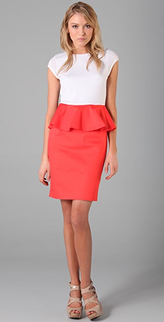 alice + olivia Gita Peplum T Shirt Dress