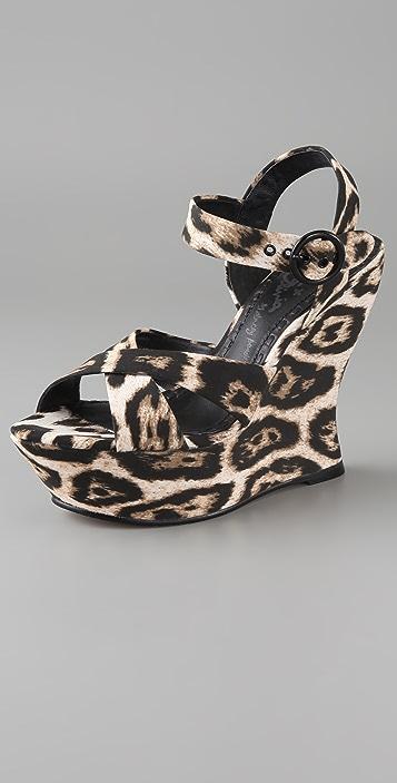 alice + olivia Juliet Platform Wedge Sandals