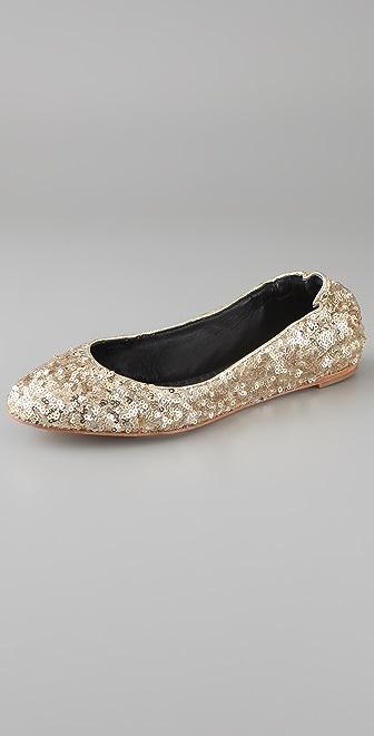 alice + olivia Dahlia Sequin Ballet Flats