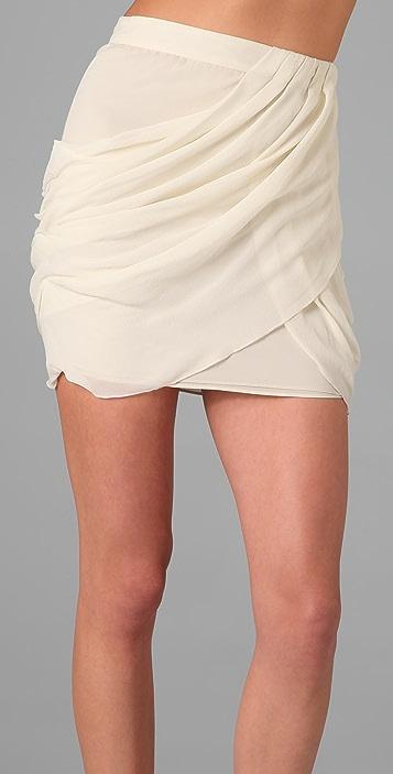 alice + olivia Paige Draped Skirt