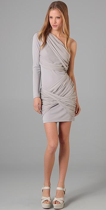alice + olivia One Sleeve Goddess Dress