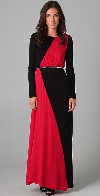 alice + olivia Colorblock Maxi Dress