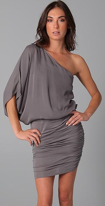 alice + olivia One Shoulder Ruched Dress