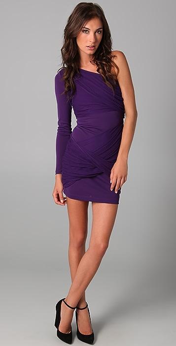 alice + olivia One Shoulder Goddess Dress