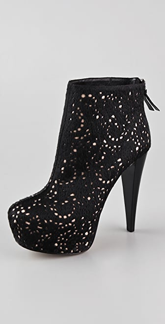 alice + olivia Paige Haircalf Platform Booties