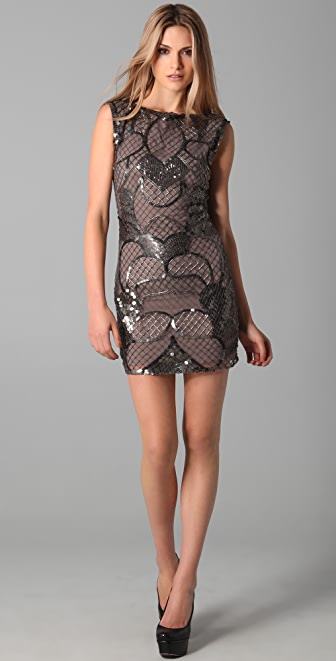 alice + olivia Radha Beaded Shift Dress