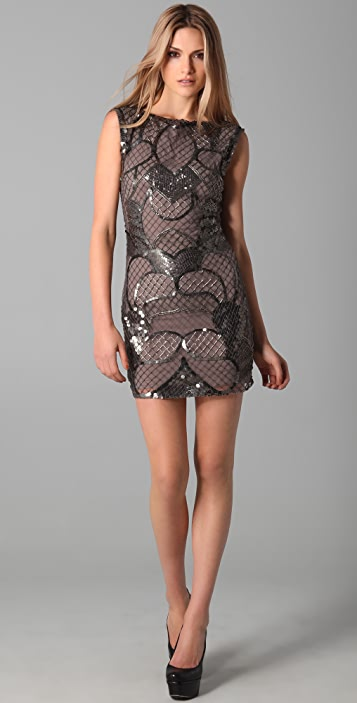 alice + olivia Radha Beaded Shift Dress