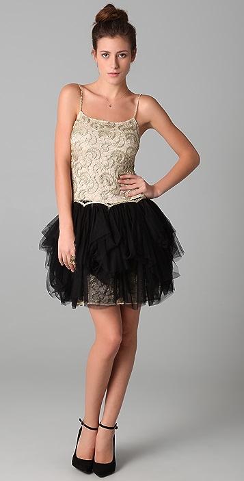 alice + olivia Claire Lace Combo Dress