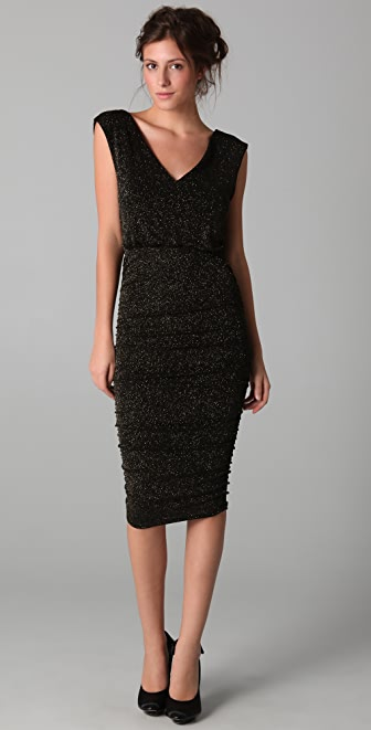 alice + olivia Mid Length Ruched Dress