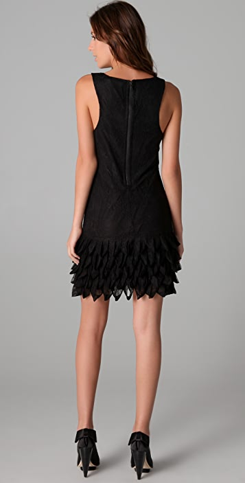 alice + olivia Randi Ruffle Lace Tank Dress