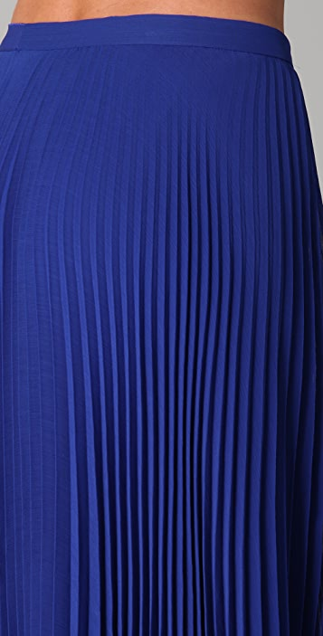 alice + olivia Shannon Pleated Long Skirt