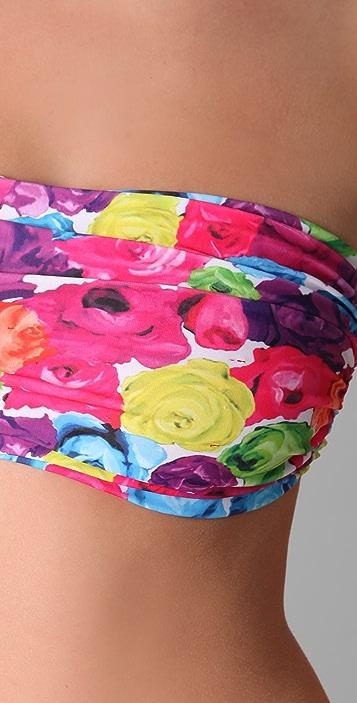 alice + olivia Floral Bandeau Bikini Top