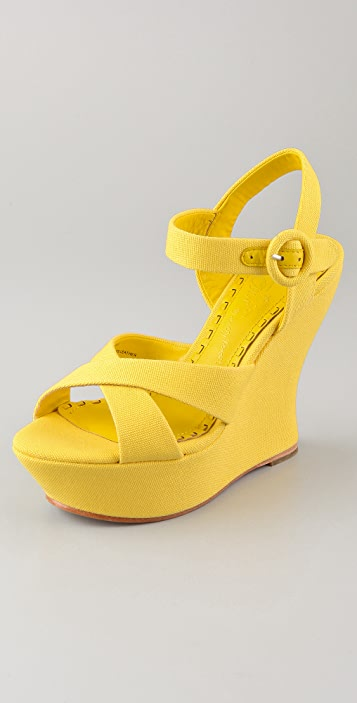 alice + olivia Juliet Canvas Sandals
