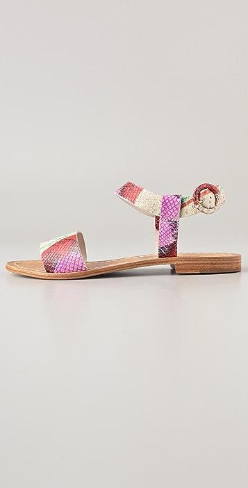 alice + olivia Bella Print Flat Sandals