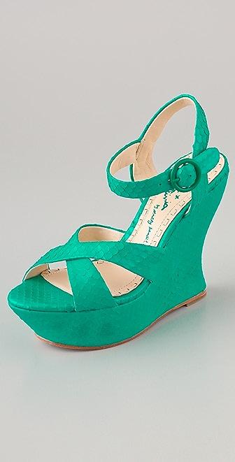 alice + olivia Juliet Platform Python Sandals