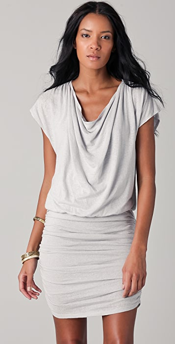 alice + olivia Cowl Neck Draped Dress