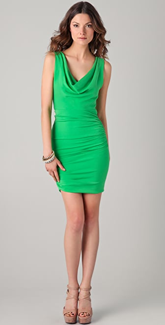 alice + olivia Esme Dress with Ruched Sides
