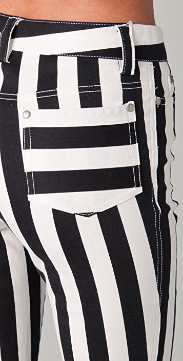 alice + olivia High Waisted Striped Pants