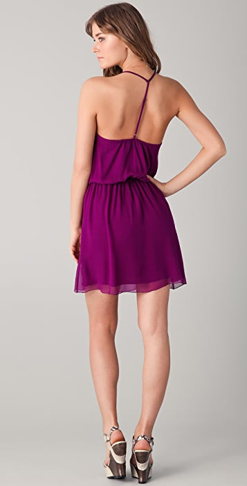 alice + olivia Lila Y Back Dress