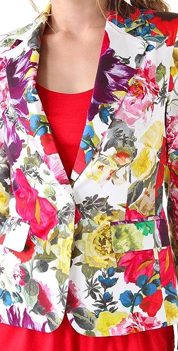 alice + olivia Elyse Floral Print Blazer