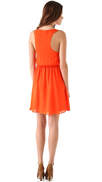 alice + olivia Franny V Neck Tank Dress
