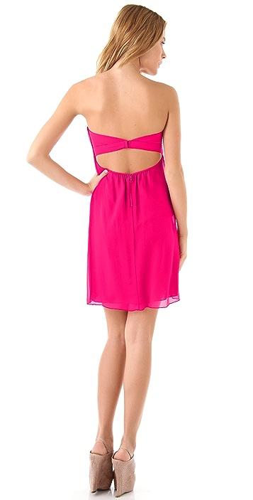 alice + olivia Jocelyn Sweetheart Mini Flare Dress