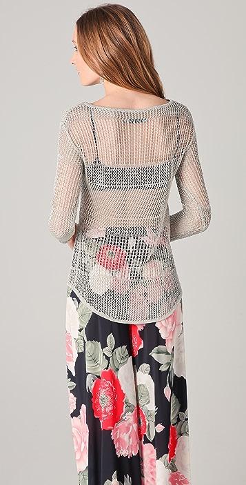 alice + olivia Cherie Metallic Sweater