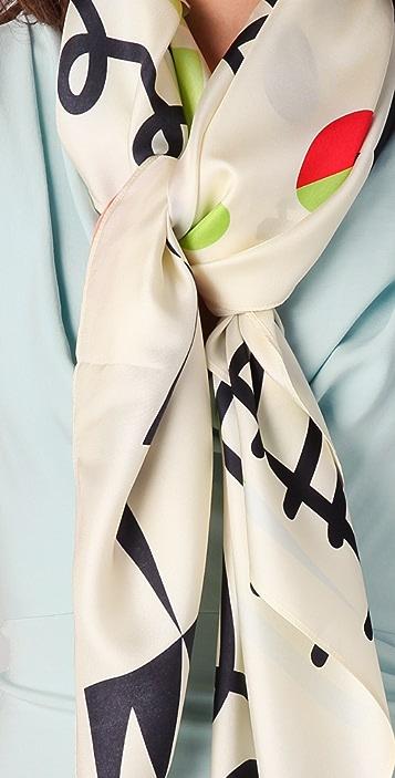 alice + olivia Love Print Scarf