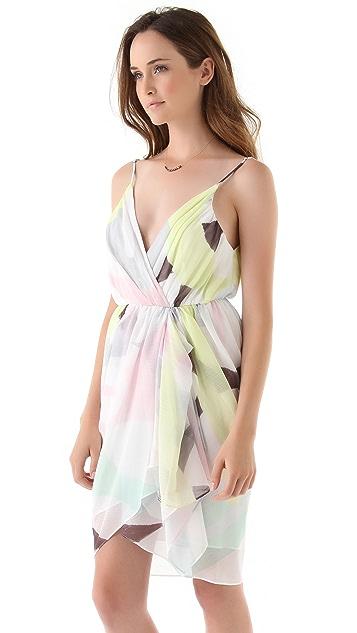 alice + olivia Isadora Wrap Top Trapeze Dress