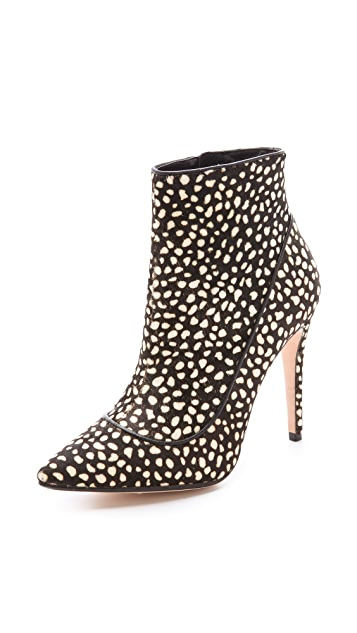 alice + olivia Dorris Cheetah Haircalf Booties