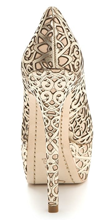 alice + olivia Larimore Laser Cut Pumps