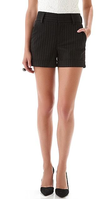alice + olivia Paula Pinstripe Shorts
