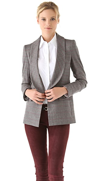 alice + olivia Lanna Single Button Blazer