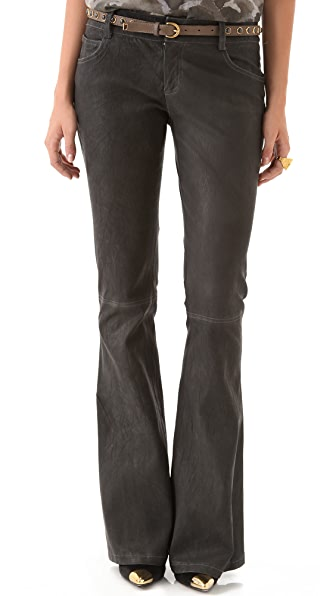 alice + olivia Leather Bell Pants