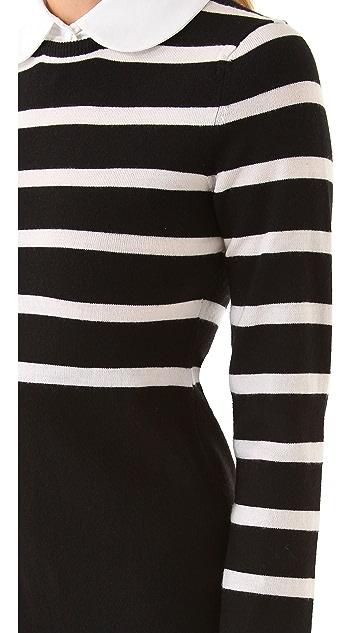 alice + olivia Daisy Mock Bow Tie Dress