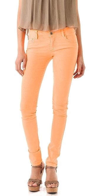 alice + olivia Neon 5 Pocket Skinny Jeans