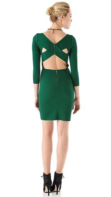 alice + olivia Reid Cross Back Dress