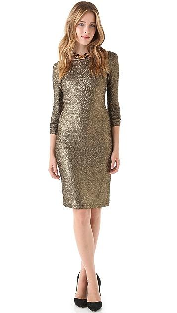 alice + olivia Selma Mesh Back Dress