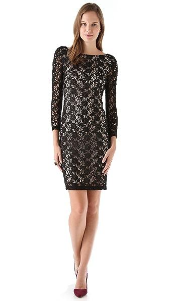alice + olivia Dandi Keyhole Dress