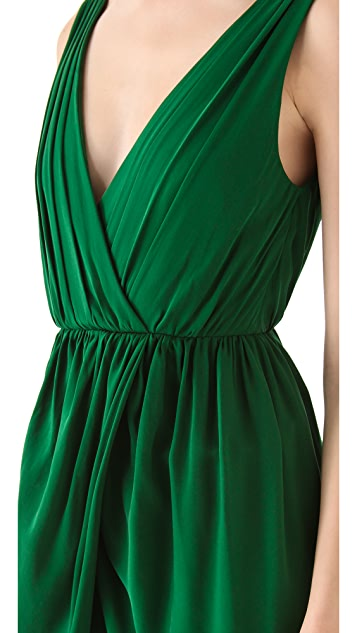 alice + olivia Marielle Draped Dress