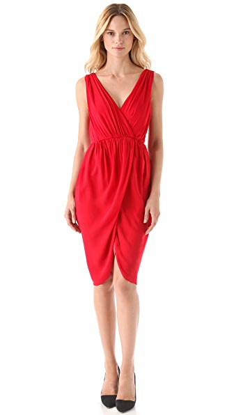 alice + olivia Marielle Draped Dress