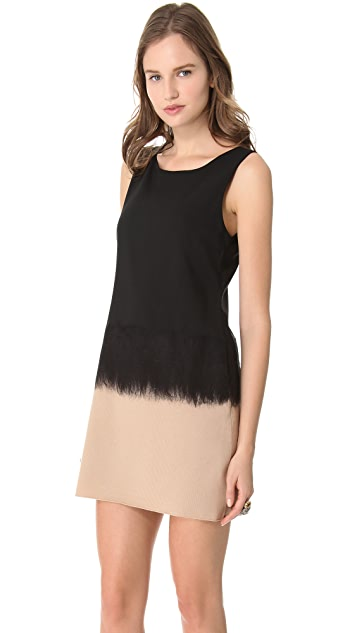 alice + olivia Adelina Needle Punch Shift Dress