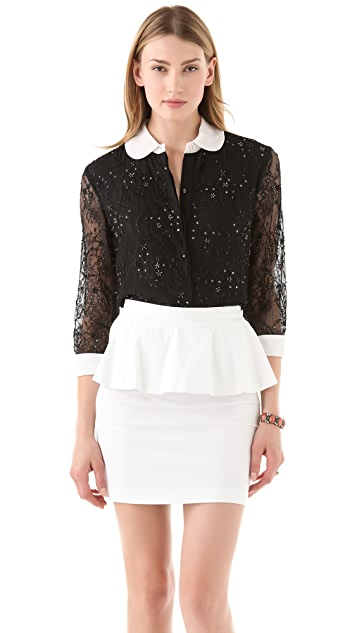 alice + olivia Roxana Top