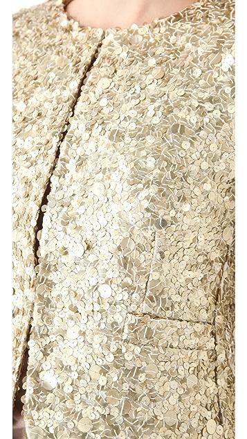 alice + olivia Brianna Sequin Box Jacket