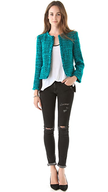 alice + olivia Gwen Collarless Jacket