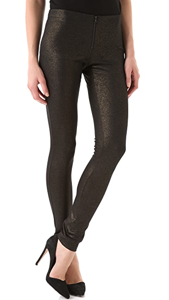 alice + olivia Exposed Front Zip Leggings