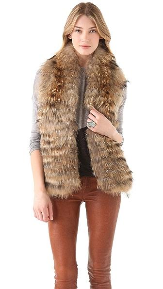 alice + olivia Azura Reversible Fur Vest