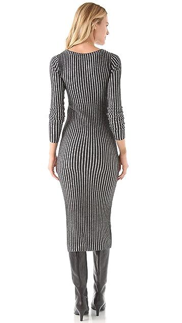 alice + olivia Zella Long Rib Dress